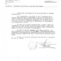 Requisizione Fiat 1100 di proprietà di Geza Molnar (ASFo)
