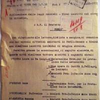 Cancellazione ebrei dalle opere pie e associazioni (ASFo)