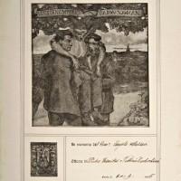 Targa commemorativa di Angelo Masini con offerta devoluta a Dam una man