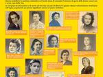 """Donne nella Resistenza piacentina: un tabellone della mostra """"Storie parallele"""" (Isrec 2005)."""