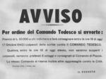 Manifestino affisso sui muri di Fiorenzuola contro gli atti di propaganda antinazista.