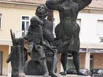 Il grande monumento della Resistenza ad Alfonsine, dettaglio.