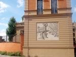 Mosaico sulla facciata esterna dell'ex stabilimento di Tommaso Barbieri