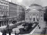 Piazza Mazzini e la sinagoga di Modena agli inizi del Novecento.