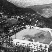 Foto aerea storica della centrale di Ligonchio