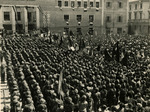 20 maggio 1945_Piazza del Mercato il giorno della smobilitazione della Brigata partigiana