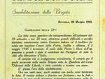 Ordine del Giorno Smobilitazione 28a Brigata Garibaldi Mario Gordini