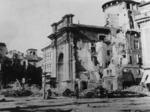 L'imbocco di via Mazzini colpita dalle bombe degli Alleati, 13 maggio 1944