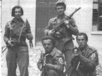 Partigiani del Distaccamento Po a Parma nei giorni della Liberazione.