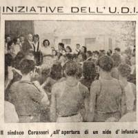 """""""La verità"""" del 25 ottobre 1945 rende conto dell'attività svolta dall'Unione donne italiane, associazione nata dai GDD con la Liberazione"""