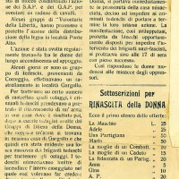 """Nell'inverno 1945 anche il combustibile scarseggia. Nel marzo """"Rinascita della donna"""", giornale dei GDD modenesi, rende conto di un prelevamento di legna"""