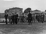 Mussolini visita i cantieri del Monumento alla Vittoria
