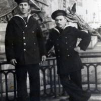 Zelio Strada (a sx), figlio di Urbano, residente al Mulino fino al 1928, poi riconosciuto partigiano della 28ª Brigata Gordini