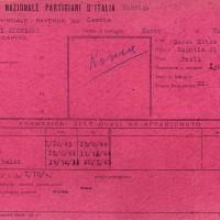 Riconoscimento partigiano di Giovanni Rossi