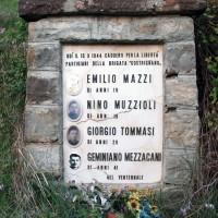 Dettaglio del cippo ai caduti della brigata Costrigniano presso Palaveggio