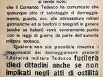 Avviso del Comune di Modena su disposizione del comando tedesco.
