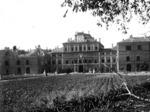 Il Palazzo Ducale dopo i bombardamenti alleati