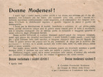 Appello alla mobilitazione delle donne modenesi.