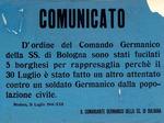 Comunicato tedesco sulla rappresaglia realizzata il giorno dopo quella di Piazza Grande.