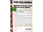 Manifesto della RSI affisso sui muri di Piacenza
