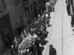 Dopo la Liberazione: uno dei tanti funerali partigiani
