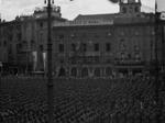Manifestazione militare in Piazza Cavalli a Piacenza negli anni della RSI