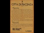 Volantino del Podestà di Piacenza che invita ad una cerimonia ufficiale