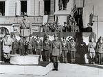 Autorità militari tedesche e della RSI davanti al Palazzo del Governatore,  28 ottobre 1943