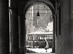 Piazza Malpighi dopo un bombardamento