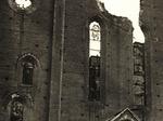 La facciata della chiesa di San Francesco, danneggiata dai bombardamenti