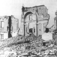 Porto Garibaldi. Chiesa Bombardata. ASDS Ferrara