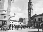 Piazza del Municipio nel corso dell'Ottocento.