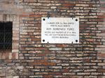 Targa commemorativa per l'eccidio di Don Paolo Turci