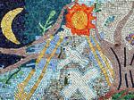 Un mosaico per la pace realizzato dai bambini delle scuole elementari di Ponte Nuovo nel 2002