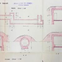 Particolari costruttivi dei rifugi tubolari, 1943 (AS-FC Fo, C.P.P.A.A. Comitato Provinciale di Protezione Antiaerea, busta n. 28)