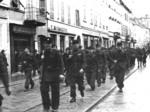 La Brigata Nera sfila nel centro di Parma
