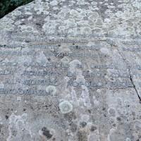 Dettaglio del Monumento per i caduti partigiani della Battaglia di Rocchetta, sulla sponda del torrente Scoltenna, Sestola