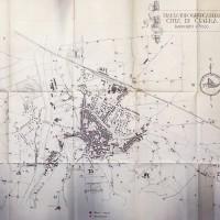 Planimetria con collocazione delle torri civiche e dei campanili di Cesena (ASFC Fo, C.P.P.A.A., n. generale 51)