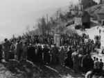 Una delle prime celebrazioni della strage di Monchio.
