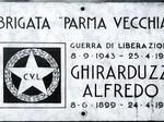 Lapide posta in via D'Azeglio in ricordo di Alfredo Ghirarduzzi, caduto il 24 aprile 1945