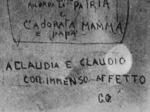 Graffiti dei prigionieri nelle celle della Polizia di sicurezza-SD in Viale Campanini, Parma 1945