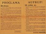 Avviso bilingue affisso sui muri di Piacenza