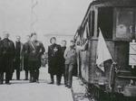 """1933: Inaugurazione della """"Littorina"""" che prendeva il nome del fascio Littorio sulla locomotiva"""