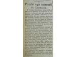 Avviso comparso su La Scure del  15 febbraio 1944