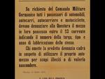 Volantino della Prefettura repubblicana di Piacenza che dirama un ordine dei tedeschi