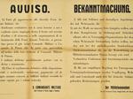 Volantino bilingue del Comando militare germanico affisso sui muri cittadini