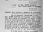 Documento sulla persecuzione degli ebrei