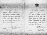 Attestato rilasciato dagli Inglesi a Giovanni Grossi per l'aiuto dato ai Generali